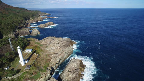Aerial view of the Todogasaki lighthouse(Short Ver ) ライブ動画