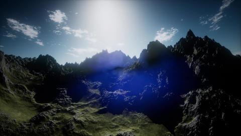 Aerial shot of mountain peak Footage