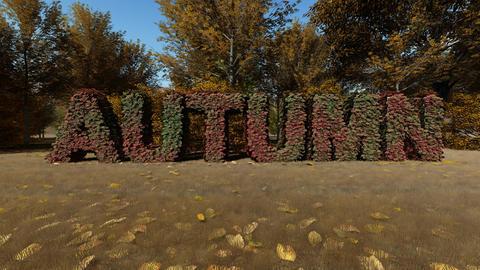 Autumn landscape backrgound Animation