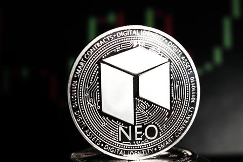 Neo crypto currency amoung other coins - digital currency of the future Fotografía