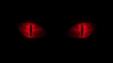 Red cat eyes blinking Loop Animation