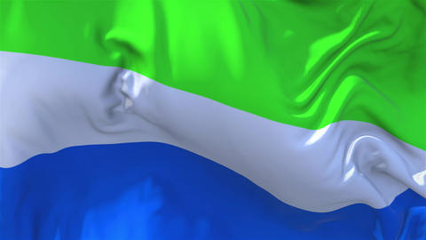 301. Sierra Leone Flag Waving in Wind Continuous Seamless Loop Background GIF