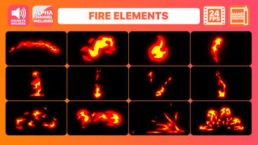 Fire Elements Pack + Titles Motion Graphics Template
