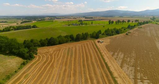 Freshly harvested agricultural land Footage