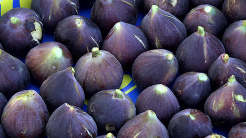 A background of fresh figs for sale at a market Footage