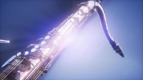 Golden Tenor Saxophone Footage