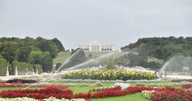Amazing Flower Water System Schoenbrunn Palace at Vienna Austria 4K 25fps Video Footage