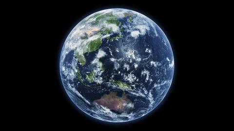 Spinning planet Earth - textures by NASA Animación