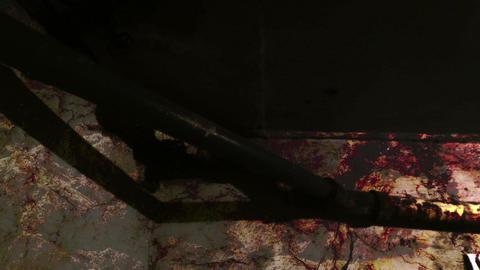Horror abstract backdrop,mixed media of two CG animation Animation