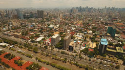 City landscape with skyscrapers Manila city Philippines Footage