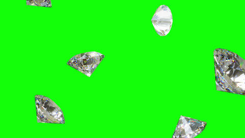 Falling Diamonds - Loopable CG Animation Animation