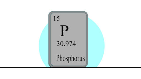 Phosphorus. Element of the periodic table of the Mendeleev system Animation