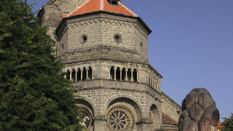 Gothic and renaissance Basilica Saint Procopius in Trebic monastery, UNESCO Archivo