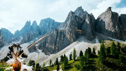 timelapse in the Puez Odle national park, Dolomites Footage