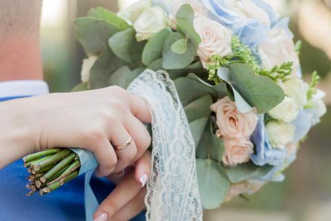 flower, bouquet, love, day, valentine, marriage, background, hymeneal, rings Fotografía