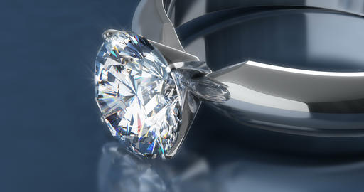 Diamond Rings on Blue Background CG動画素材