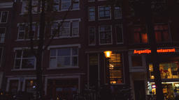 Driving on an Amsterdam Street and Filming the Architecture Live Action