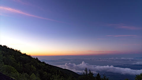 Dawn from Mt. Fuji Timelapse Footage