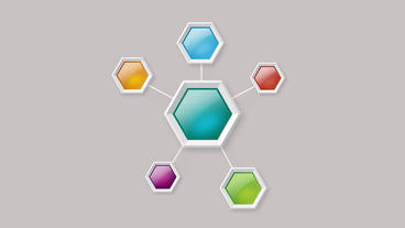 Colorful Hexagon Polygonal Boxes With Pop Up Animation stock footage
