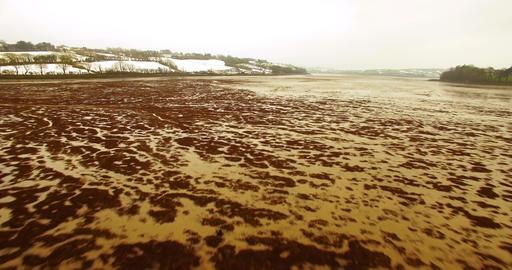 Aerial view of riverbed 4k Footage