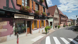 St Hippolyte France: August 2018 View of the beautiful alsatian ancient town of Footage