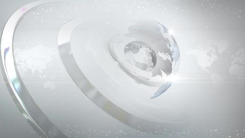 White globe bg Animation