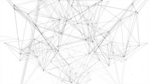 Beautiful Plexus. Futuristic Technology Abstract... Stock Video Footage