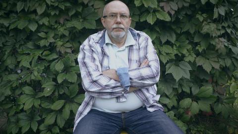 Portrait of senior man ビデオ
