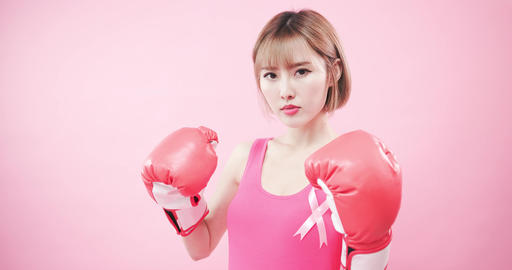 woman with prevention breast cancer Footage