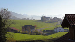 Idyllic Swiss Rural Scenery Footage