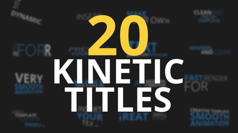 20 Kinetic Titles After Effects Template