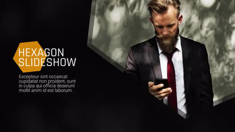 Hexagon Presentation - Slideshow Premiere Pro Template