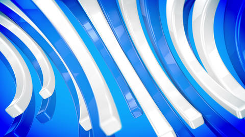 Moving concave blue and white color bars Animation