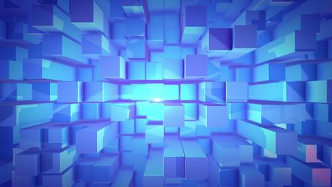 3D design cubes in a vertical pan shot Animation
