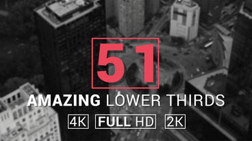 50+1 Amazing Lower Thirds Plantilla de After Effects