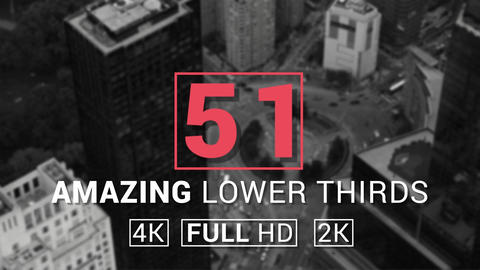 50+1 Amazing Lower Thirds After Effects Template