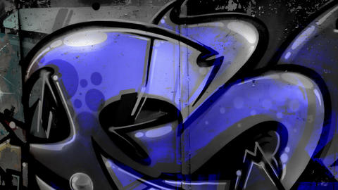 Black white Dark Blue Graffiti Mix 2018 Footage