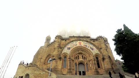 Cathedral In A Cloud On Top of Mountain GIF
