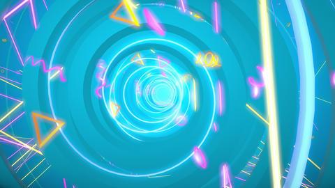 Circle Helix 02 4K CG動画素材