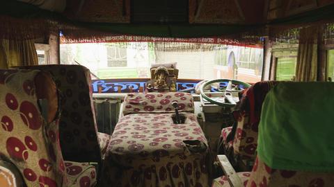 View of the local bus in Nepal, Kathmandu Footage
