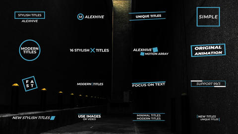 Stylish Titles Motion Graphics Template
