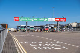 Holyhead / Wales - April 30 2018 : The border control is ready for passengers Photo