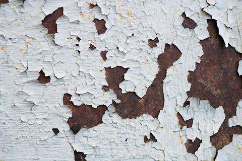 Dark rusty metal texture background フォト