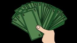 hand holding money Sketch illustration hand drawn animation transparent Animation