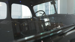 Interior of a Vintage Car: Steering Wheel and Seating Live Action
