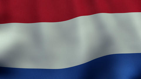 Loopable waving Dutch flag animation Animation