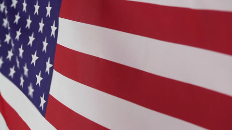 Moving Fabric United States Flag stock footage