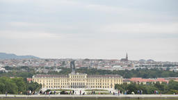 Summer Holiday Sunny Day Excursion Schoenbrunn Palace at Vienna Austria Footage