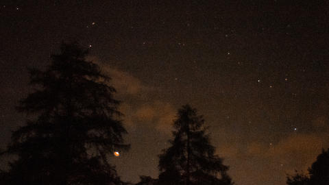 night time lapse with stars in the Dolomites GIF
