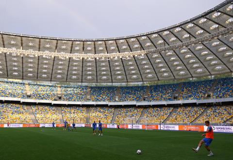 Training session of Ukraine National Football Team in Kyiv フォト
